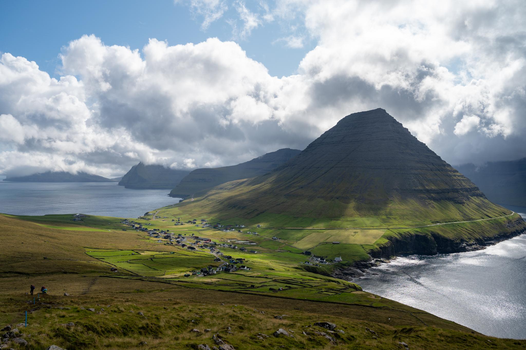 Ausblick von den Buttercup Routes auf den Färöer-Inseln