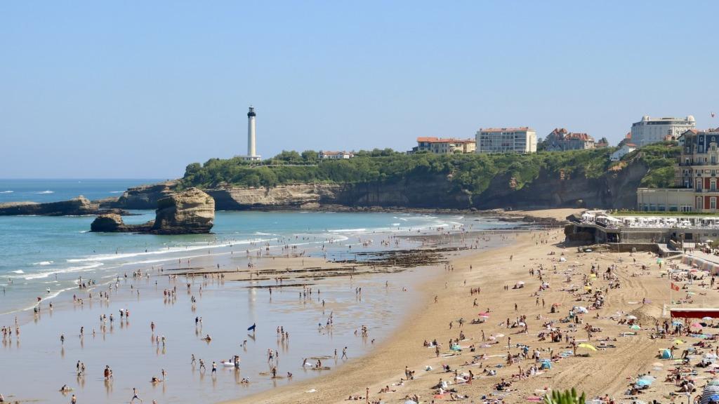 Biarritz an der französischen Atlantikküste