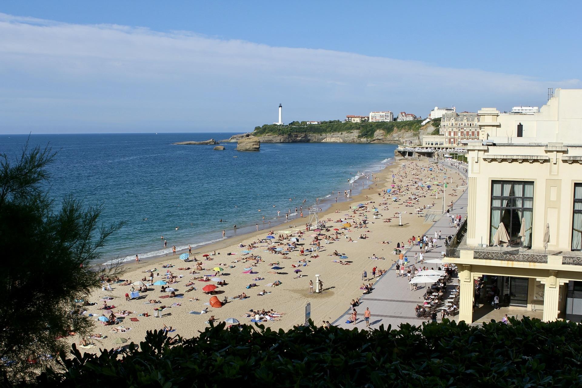 Ausblick auf den Grand Plage von Biarritz