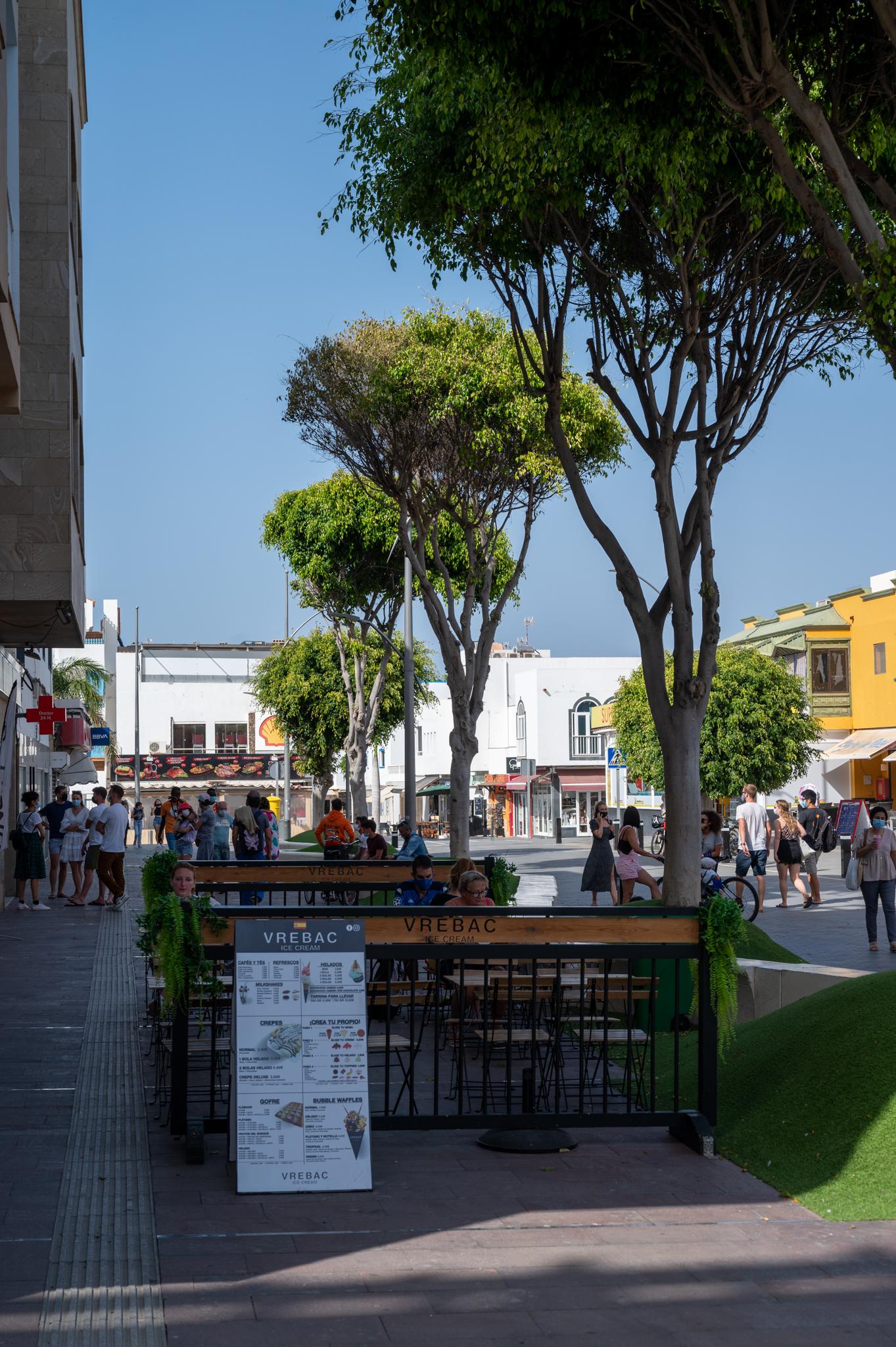 Einkaufsstraße in Corralejo