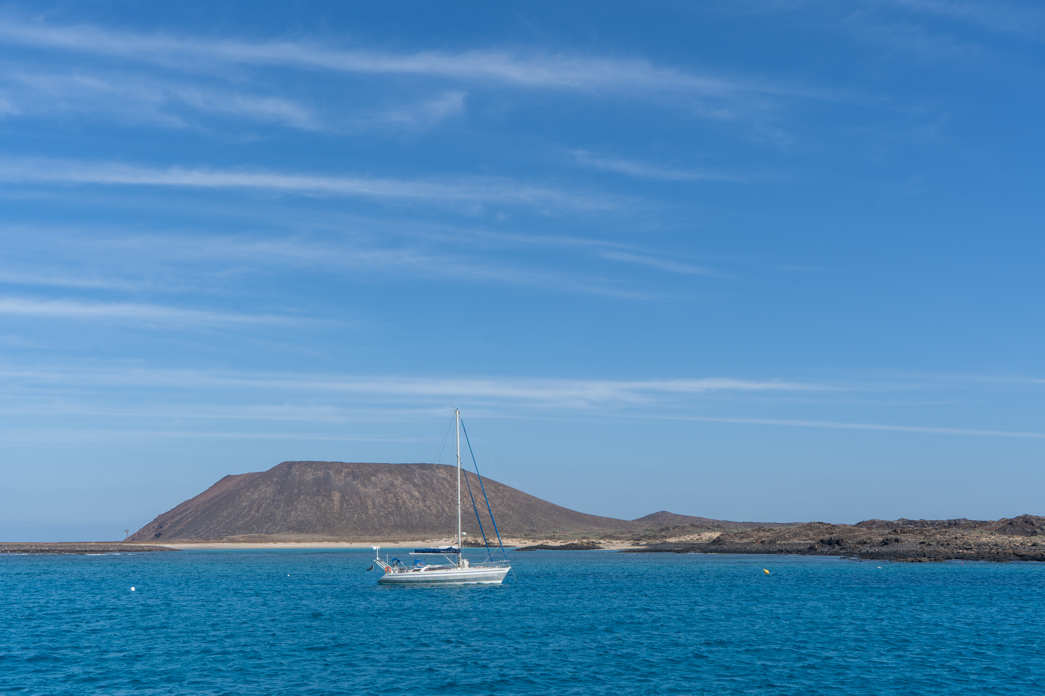Ausblick auf die Isla de Lobos vor Fuerteventura