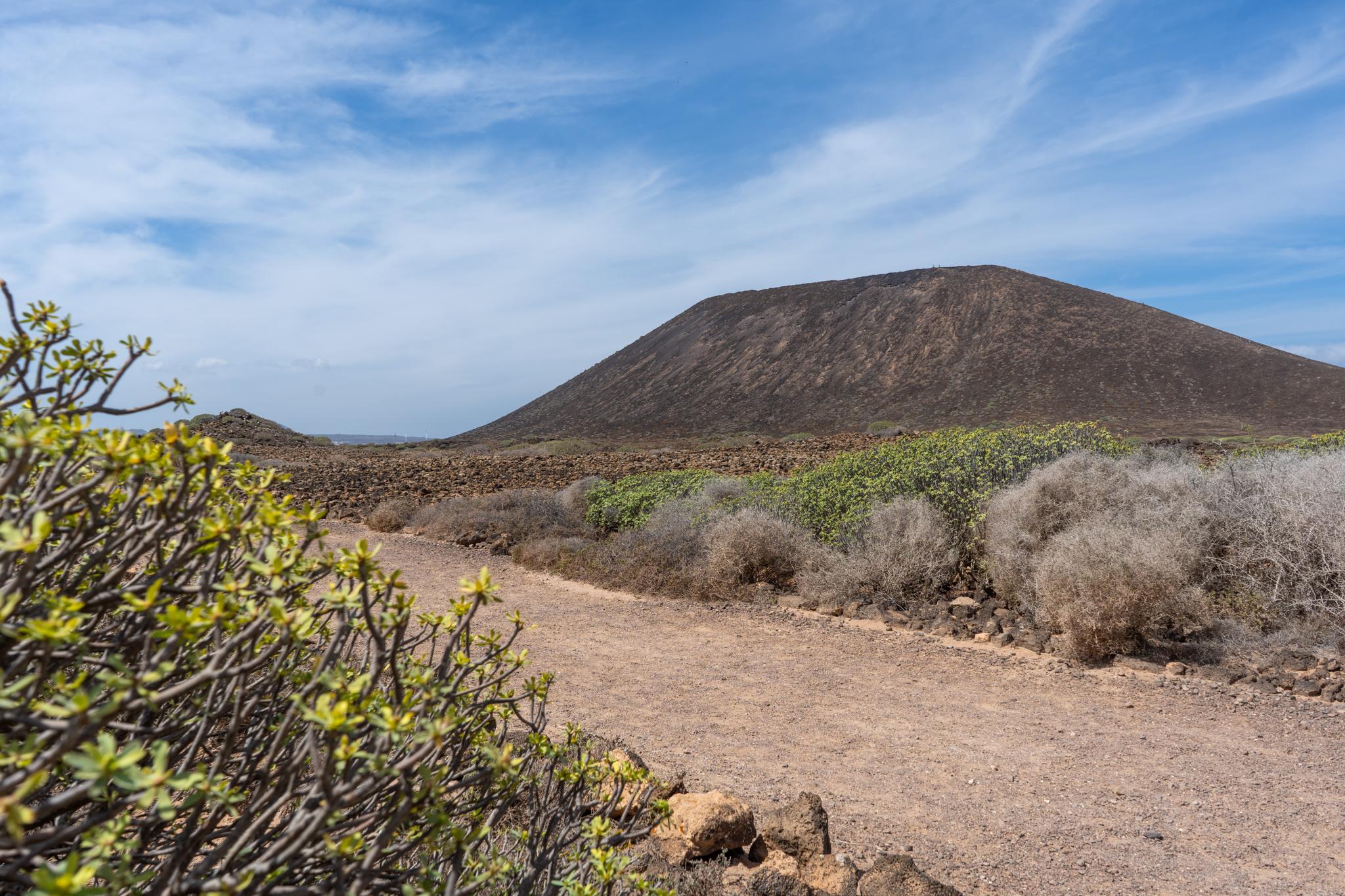 Weg zum Montaña Caldera