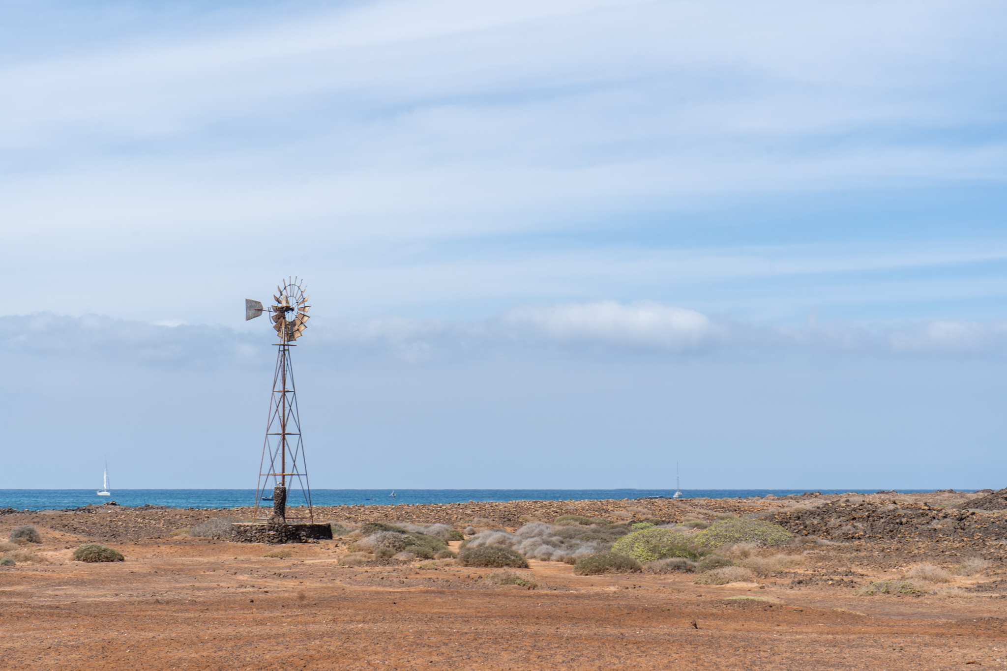 Windrad auf Lobos