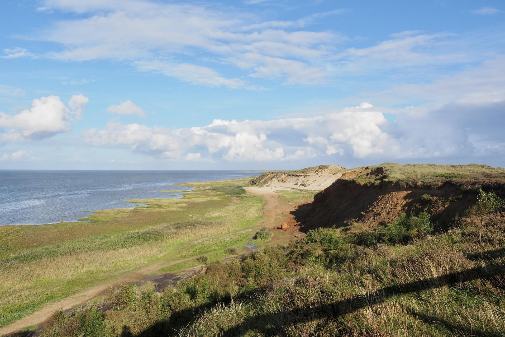 Das Morsum Kliff auf der Insel Sylt ist ein schöner Ausflug