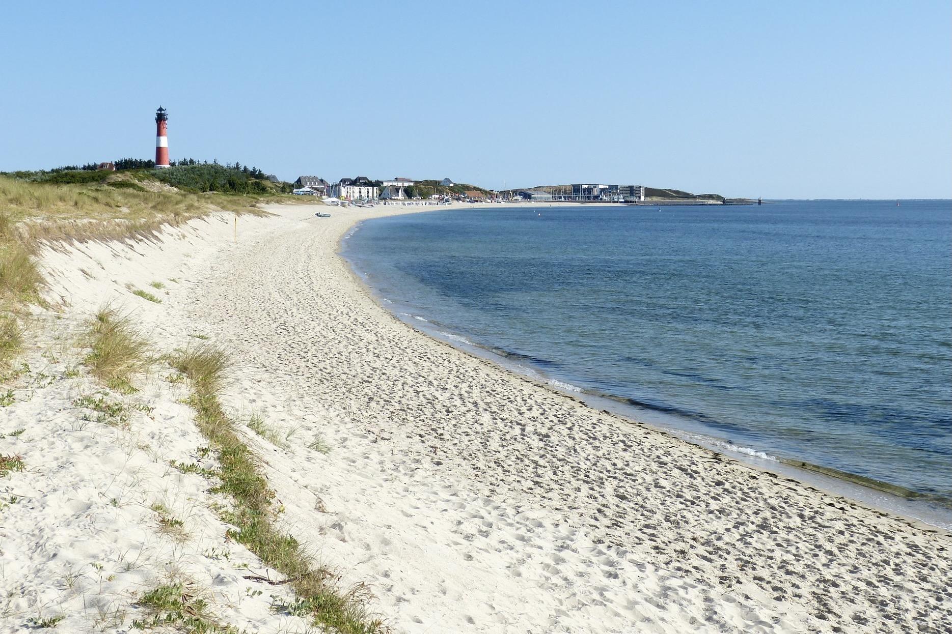 Der Hörnum Strand ist eine Attraktion auf Sylt