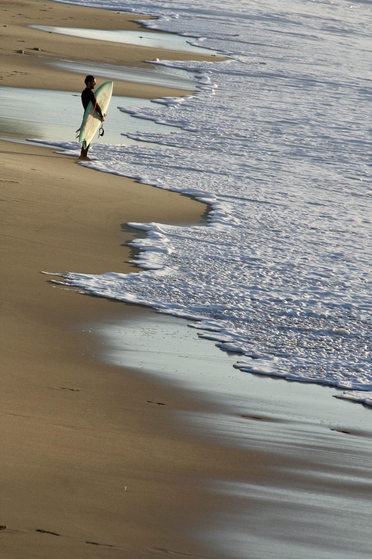 Surfen an der Atlantikküste in Frankreich
