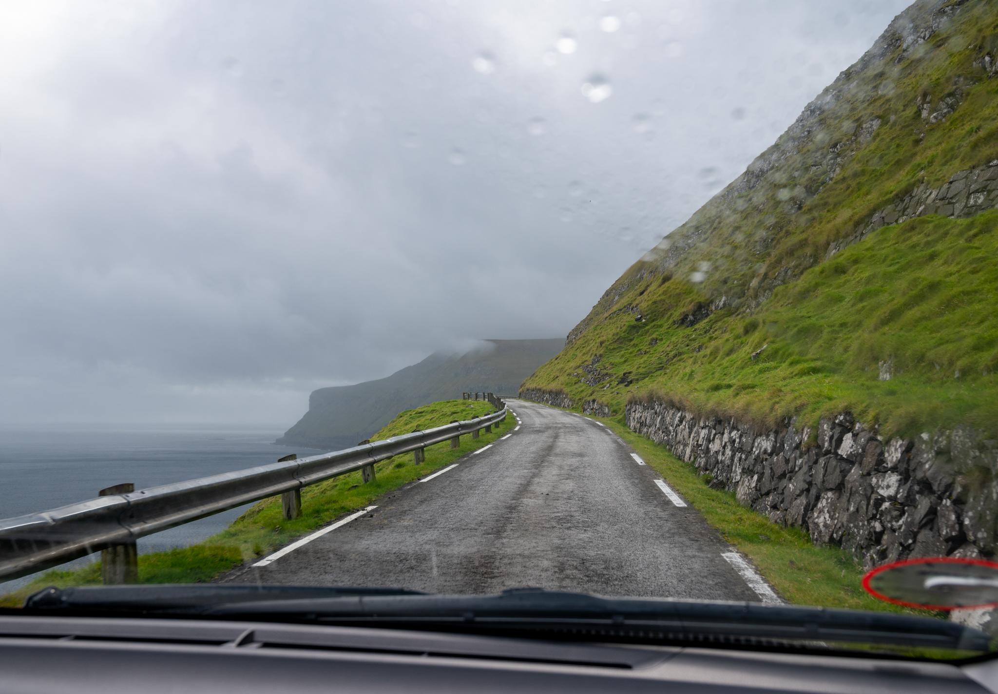 Regen auf den Färöer-Inseln