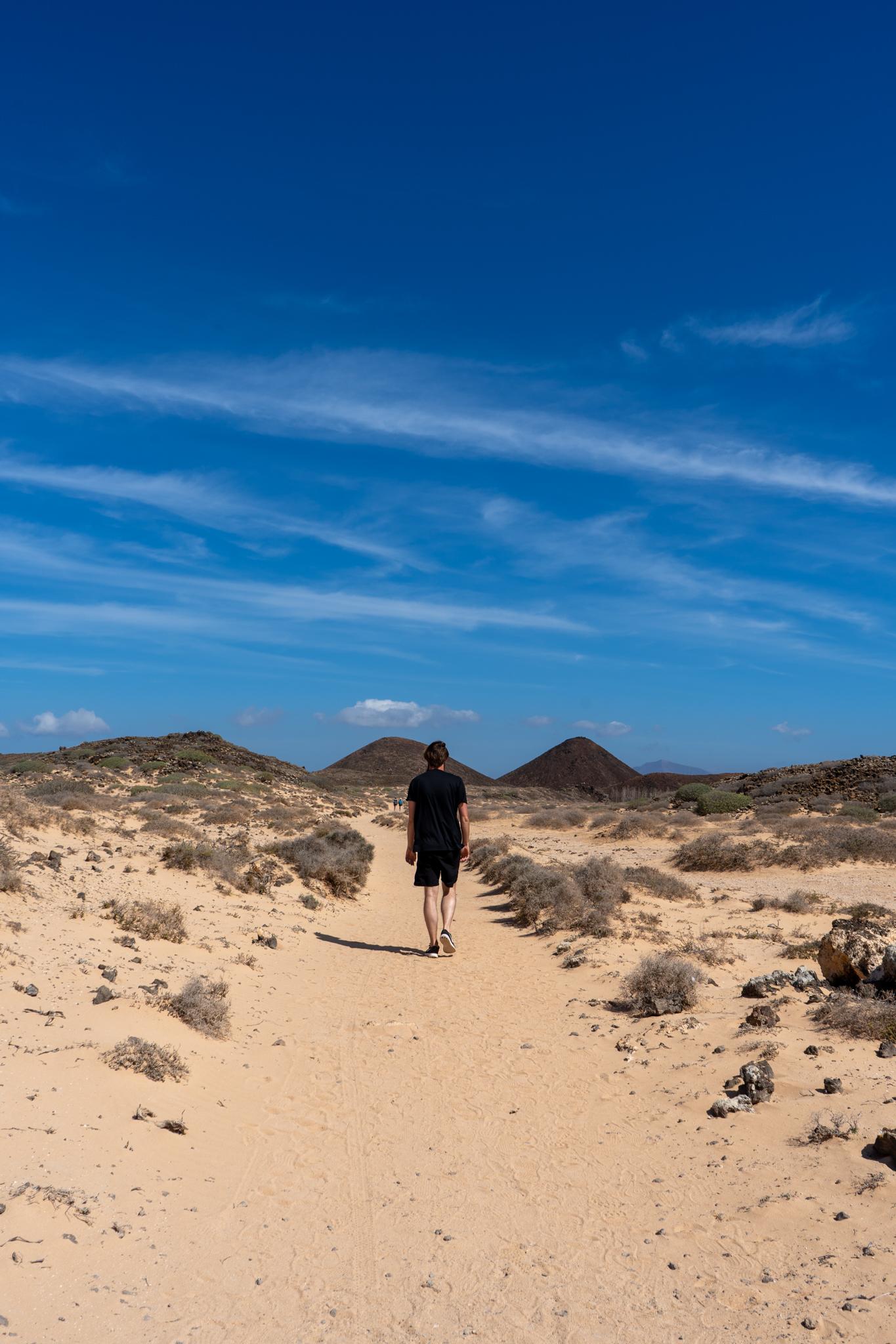 Sandweg auf der Lobos Insel