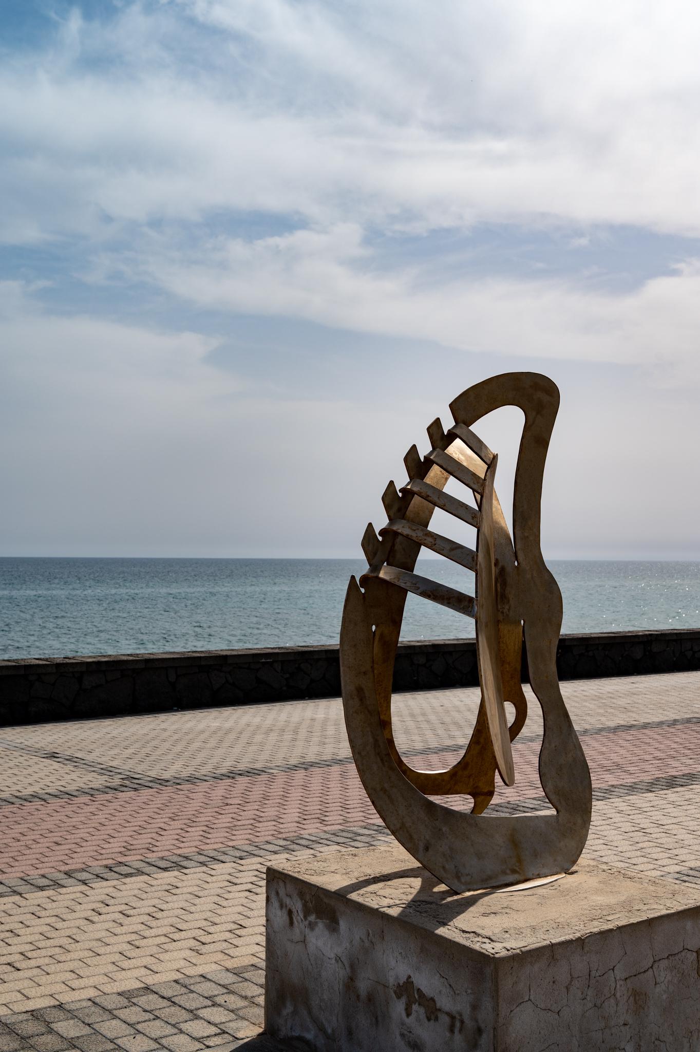 Statue in Arrecife auf Lanzarote