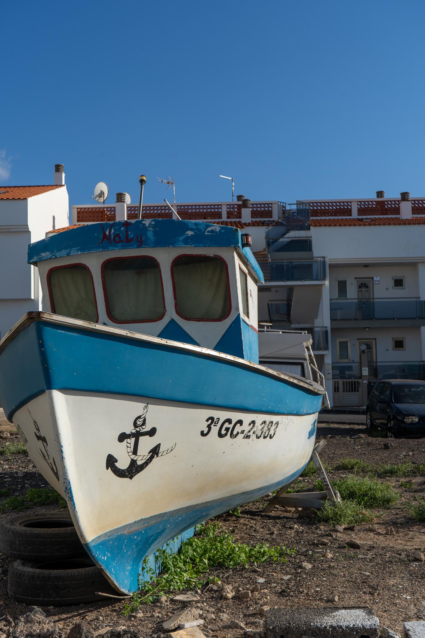 Fischerboot in El Cotillo