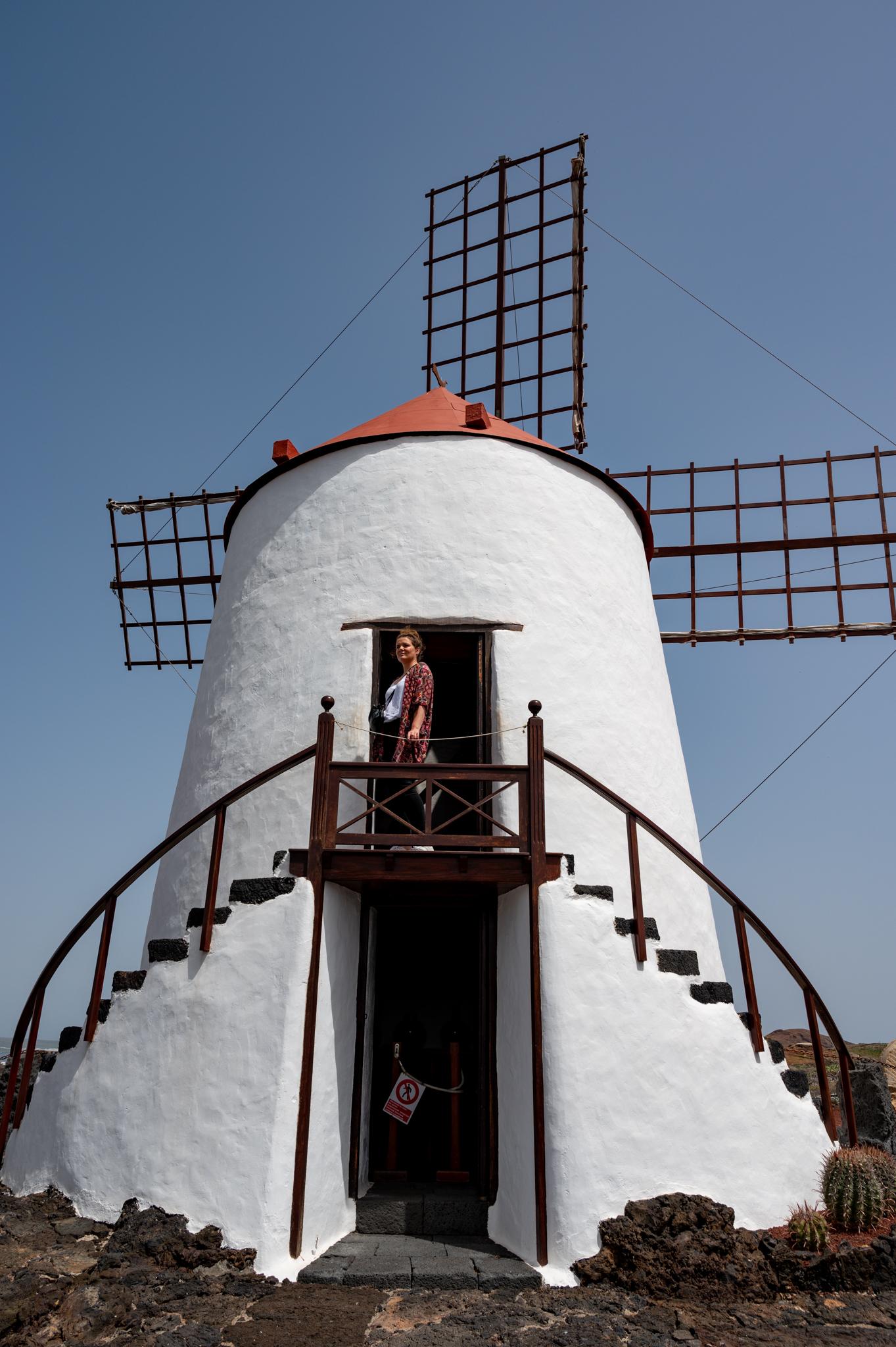 Gofio Mühle im Jardin de Cactus auf Lanzarote