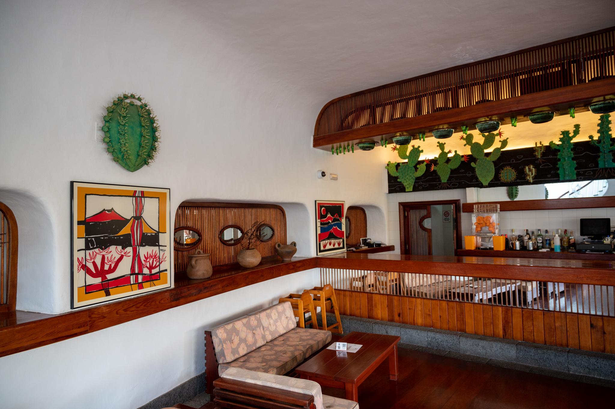 Cafeteria im Kaktusgarten auf Lanzarote
