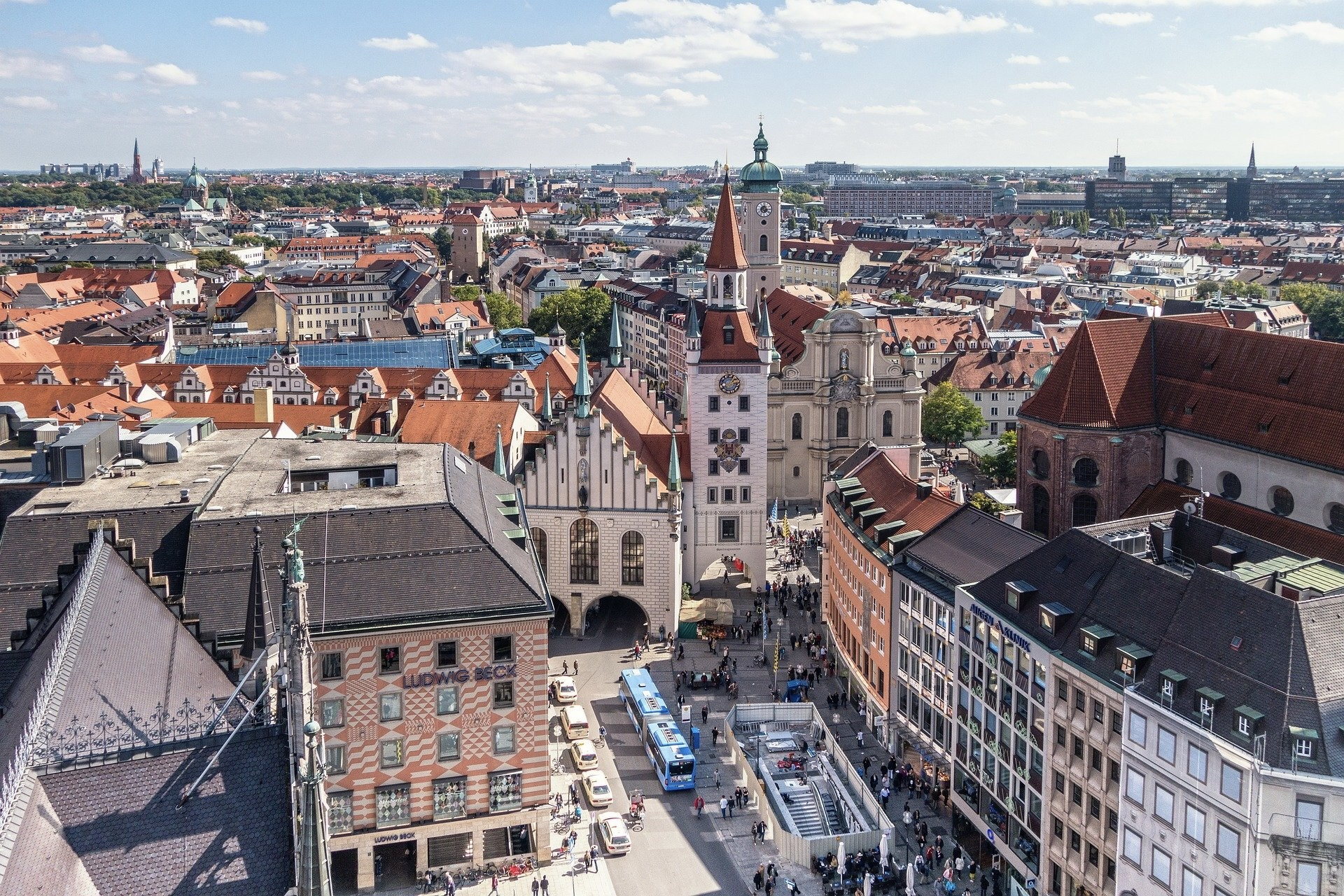 München kann man im Frühling gut besuchen