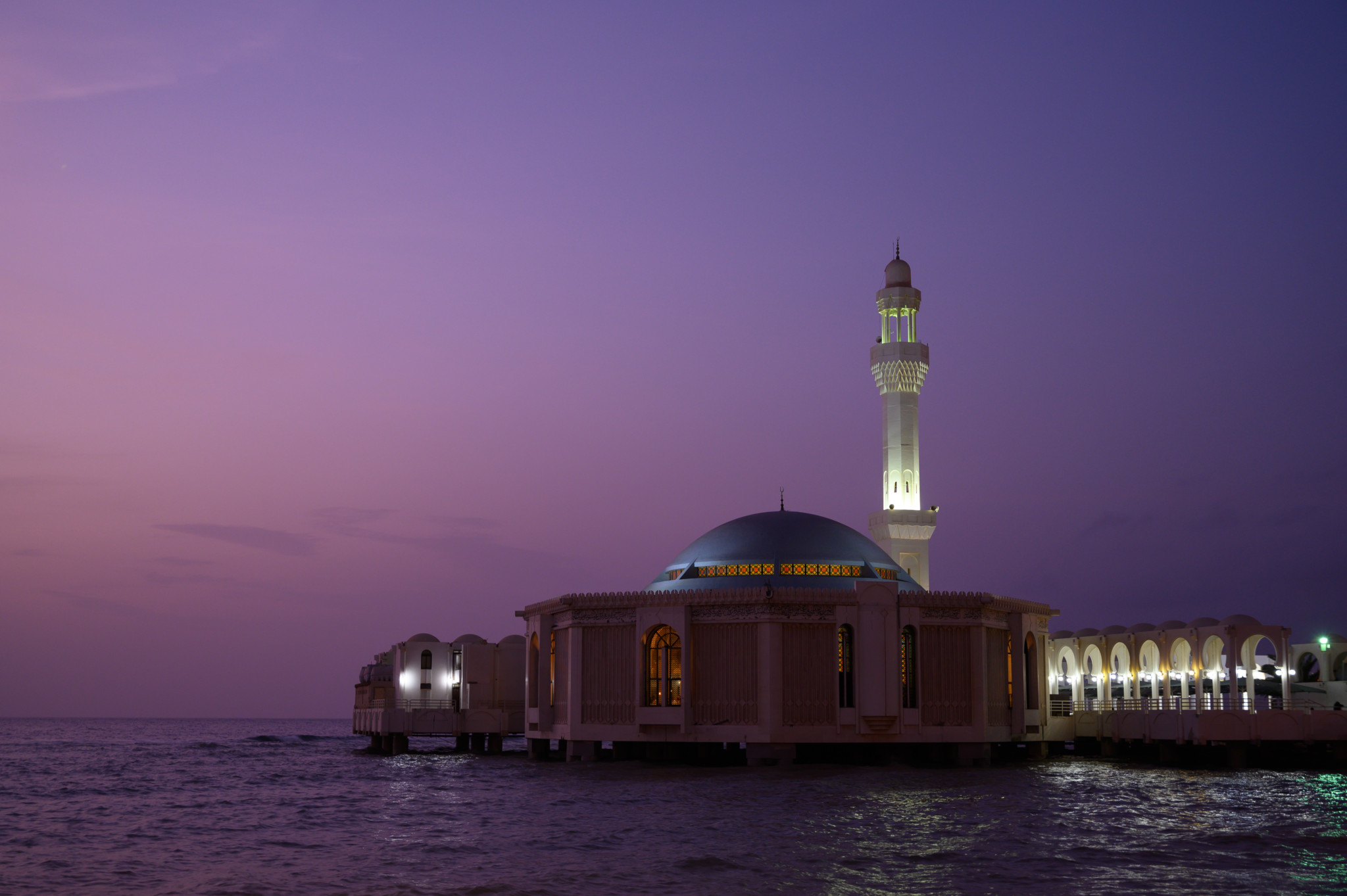 Floating Mosque in Jeddah in Saudi-Arabien