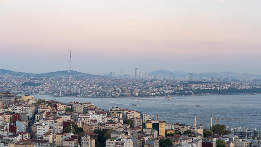 Blick nach Kadiköy in Istanbul