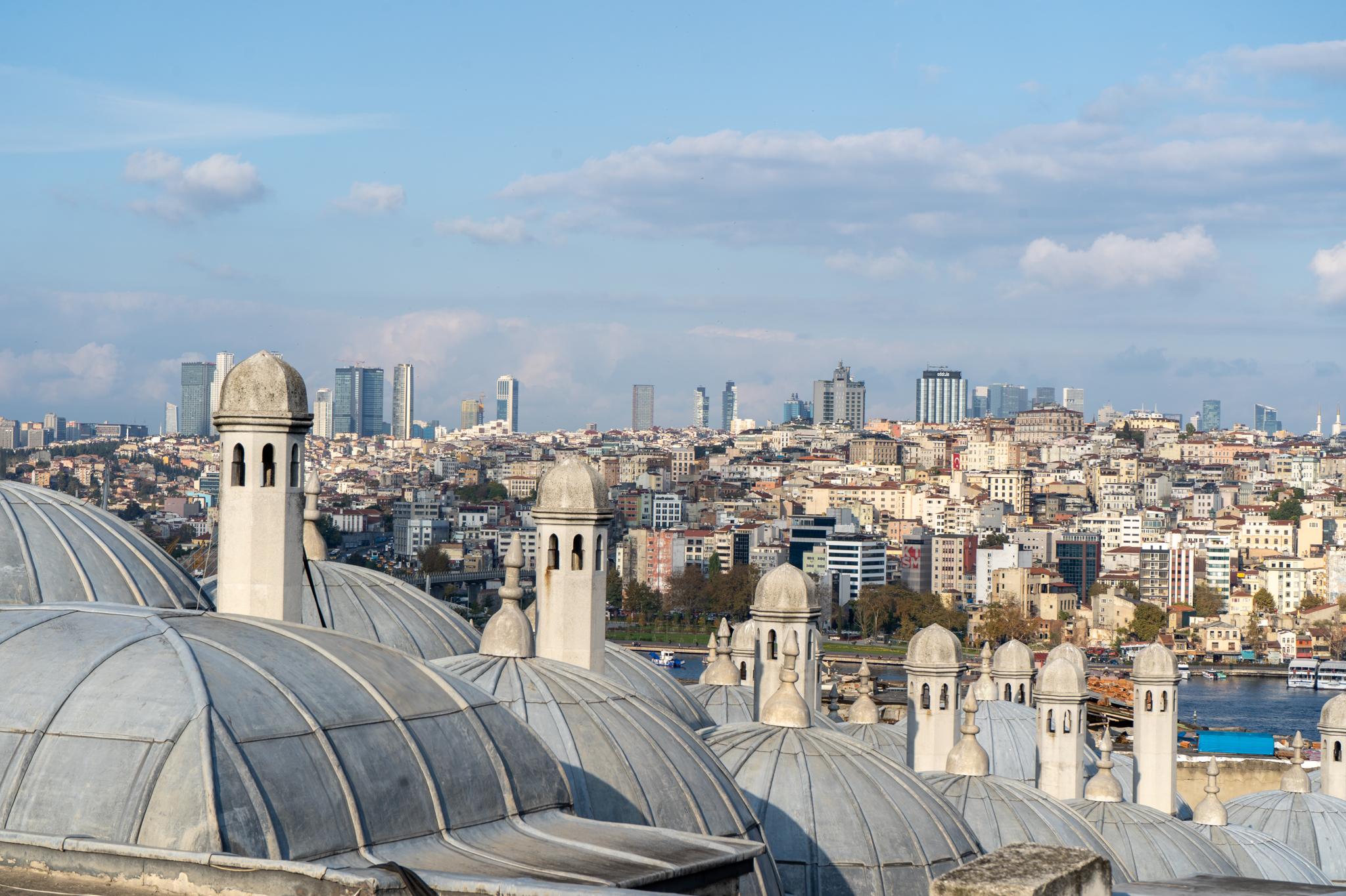 Blick über die Sehenswürdigkeiten in Istanbul