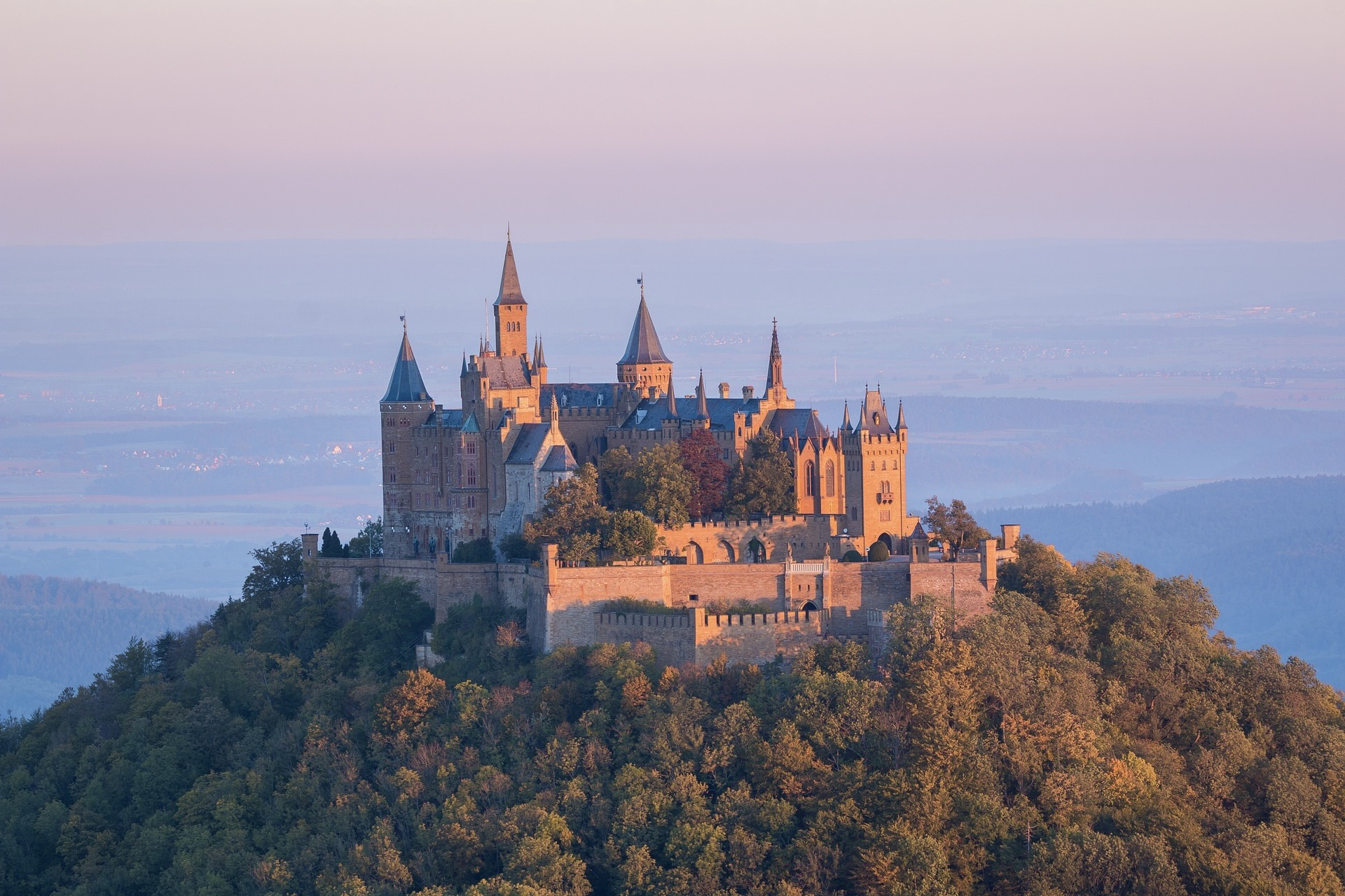 Die Burg Hohenzollern in Baden-Württemberg