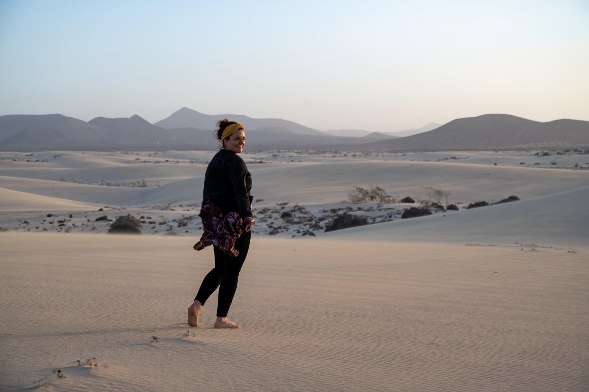 Die Dünen von Corralejo auf Fuerteventura im Mai