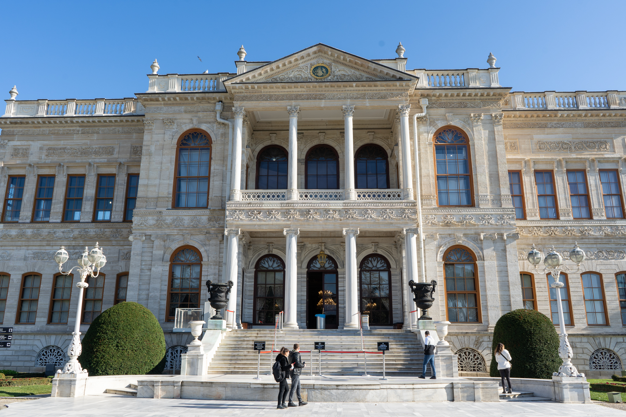Dolmabahce Palast in Besiktas in Istanbul