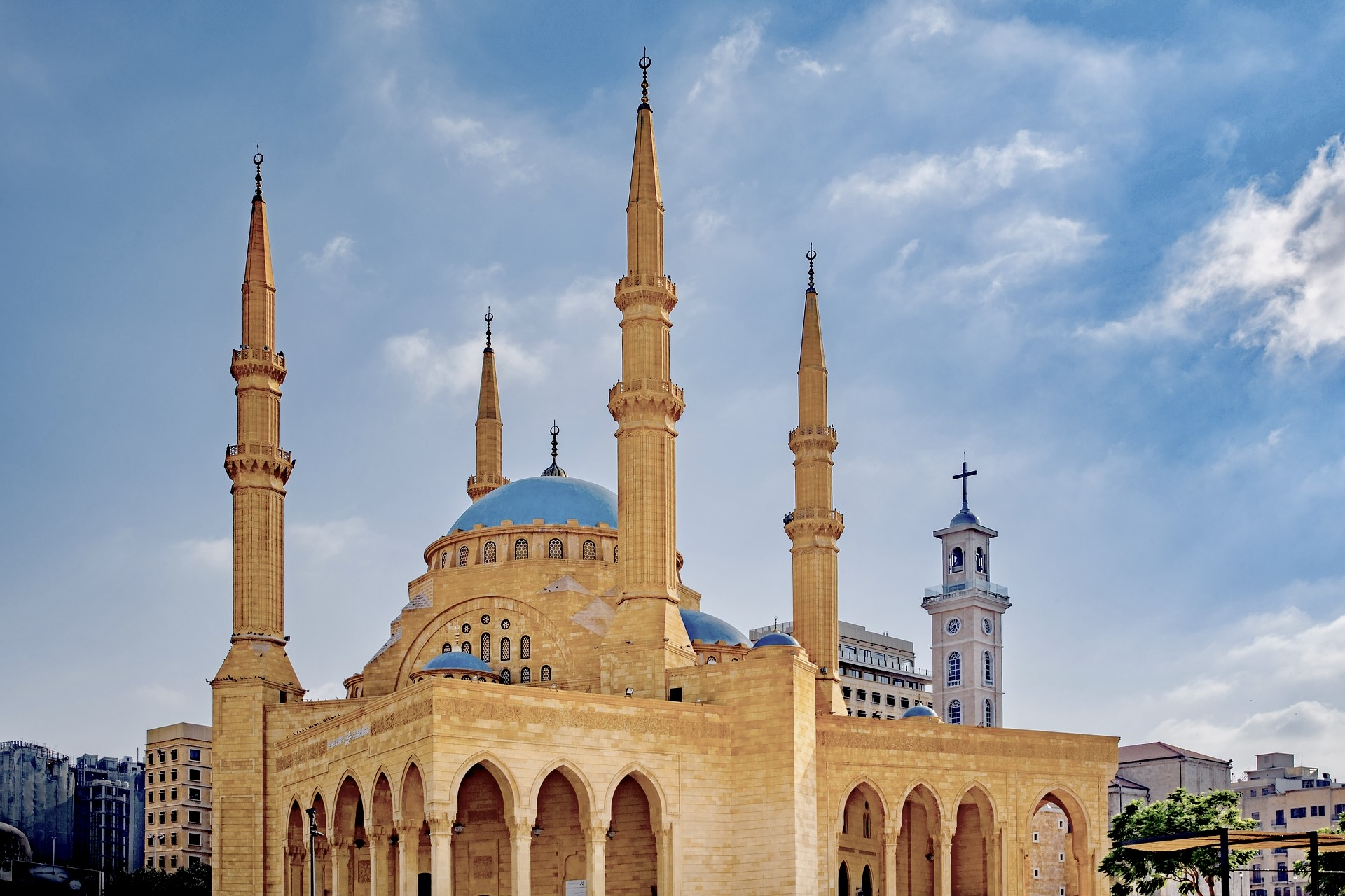 Moschee in Beirut im Libanon