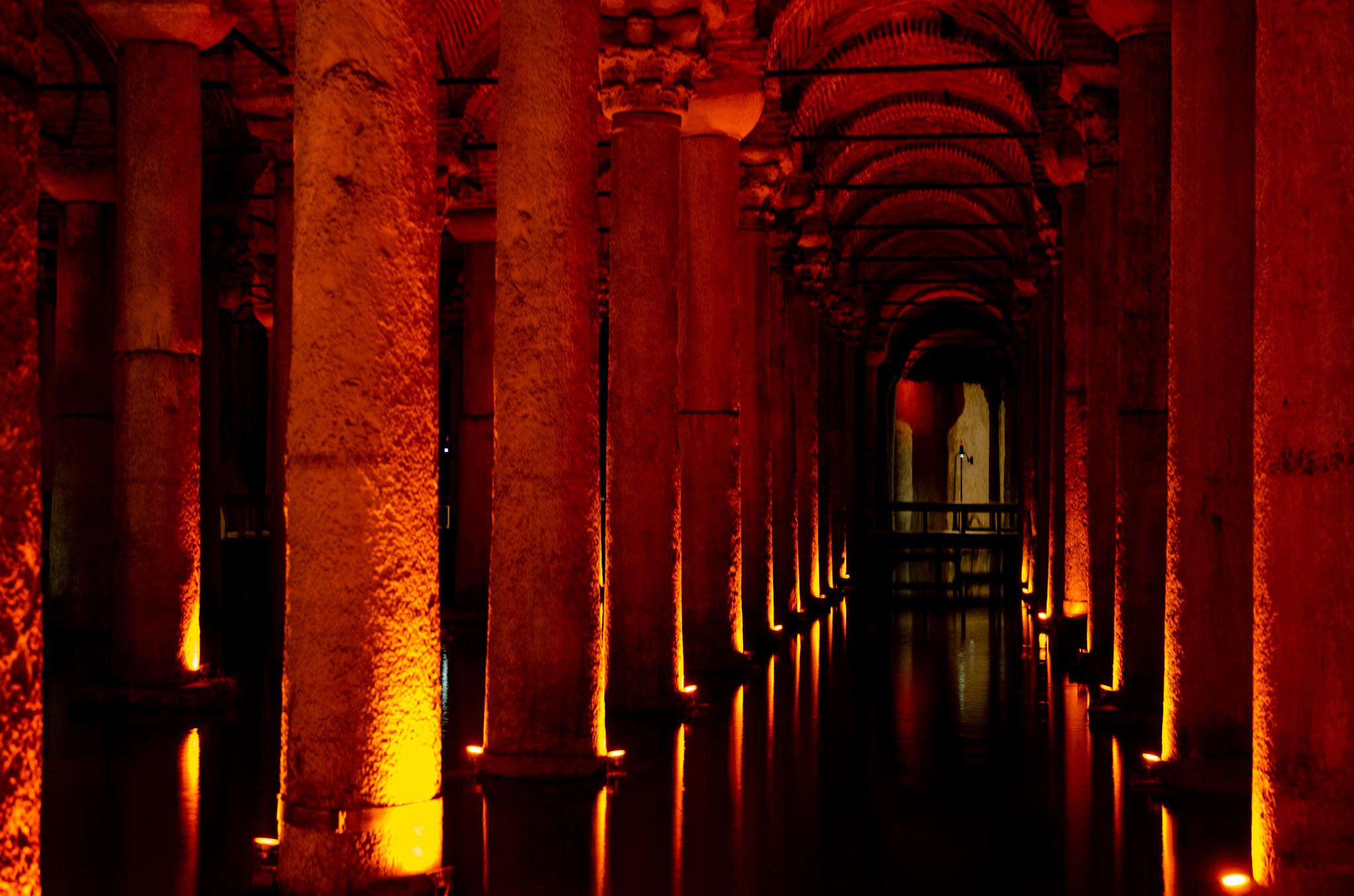 Cisterna Basilika in Istanbul in der Türkei