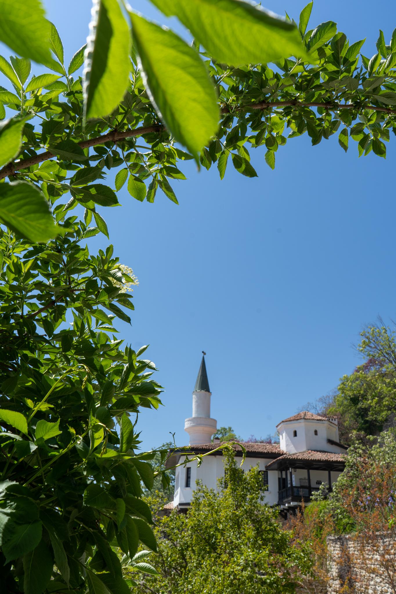 Minarett in Baltschik in Bulgarien