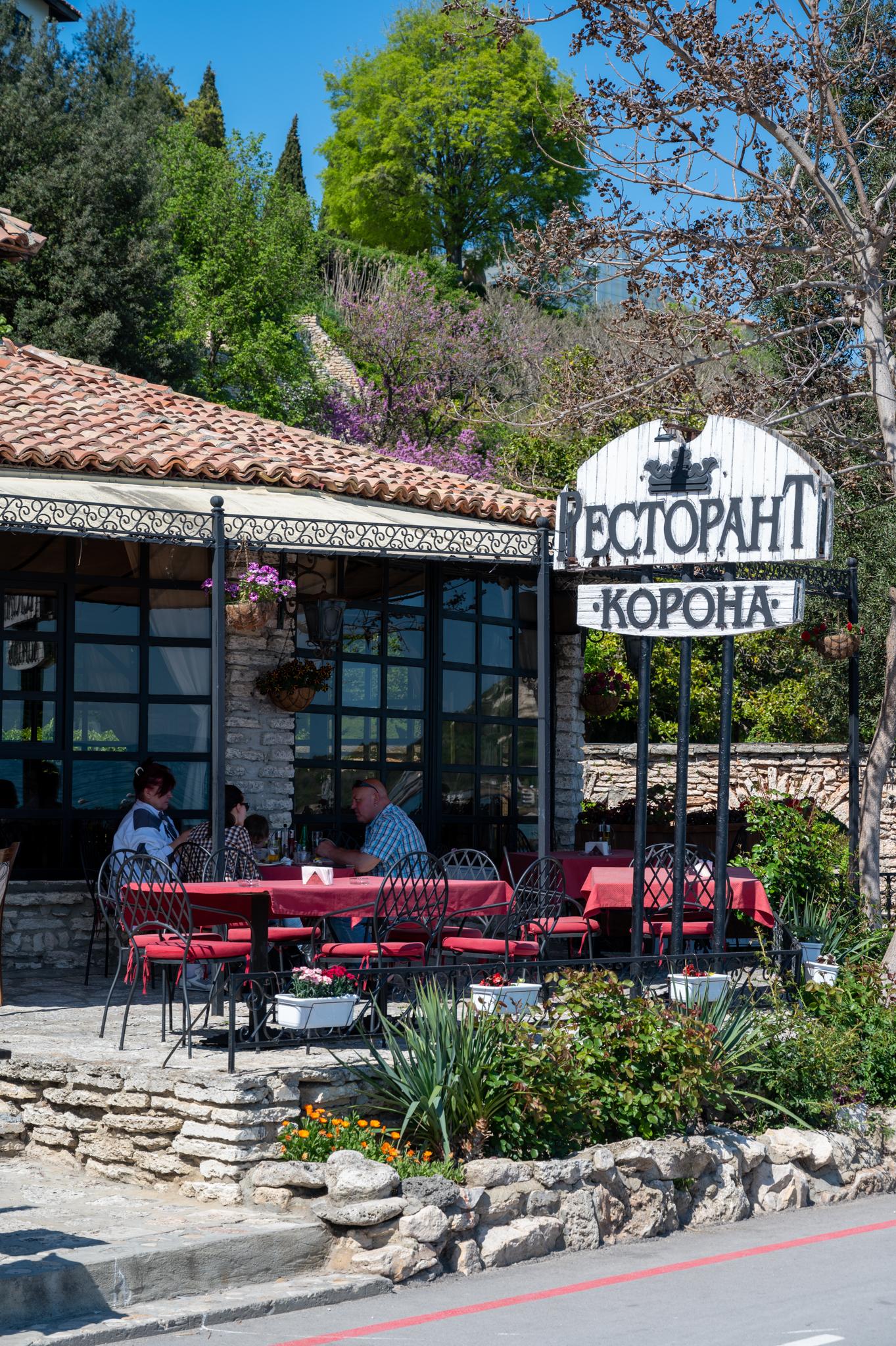 Essen im Restaurant Corona in Baltschik