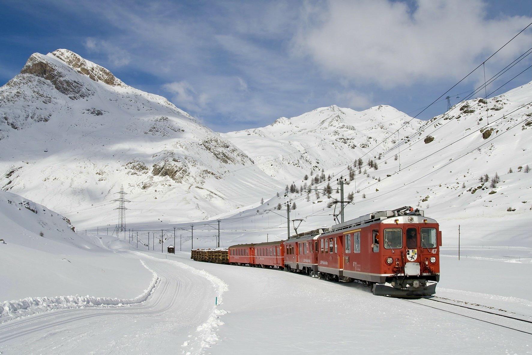 Bernina Express in der Schweiz