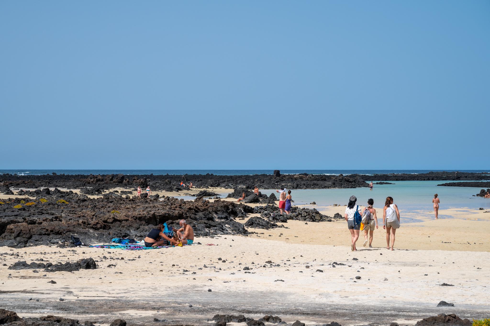 Playa Orzola, einer der Strände auf Lanzarote