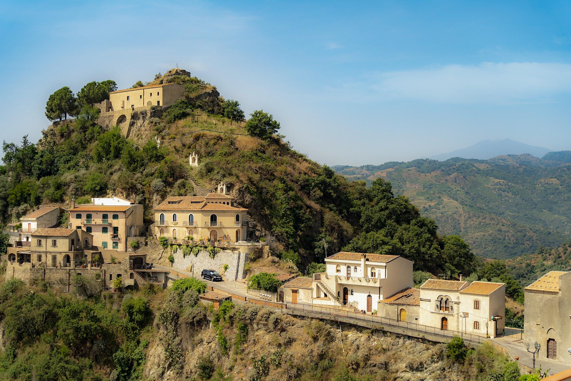 Die Mafia-Stadt Corleone in Sizilien