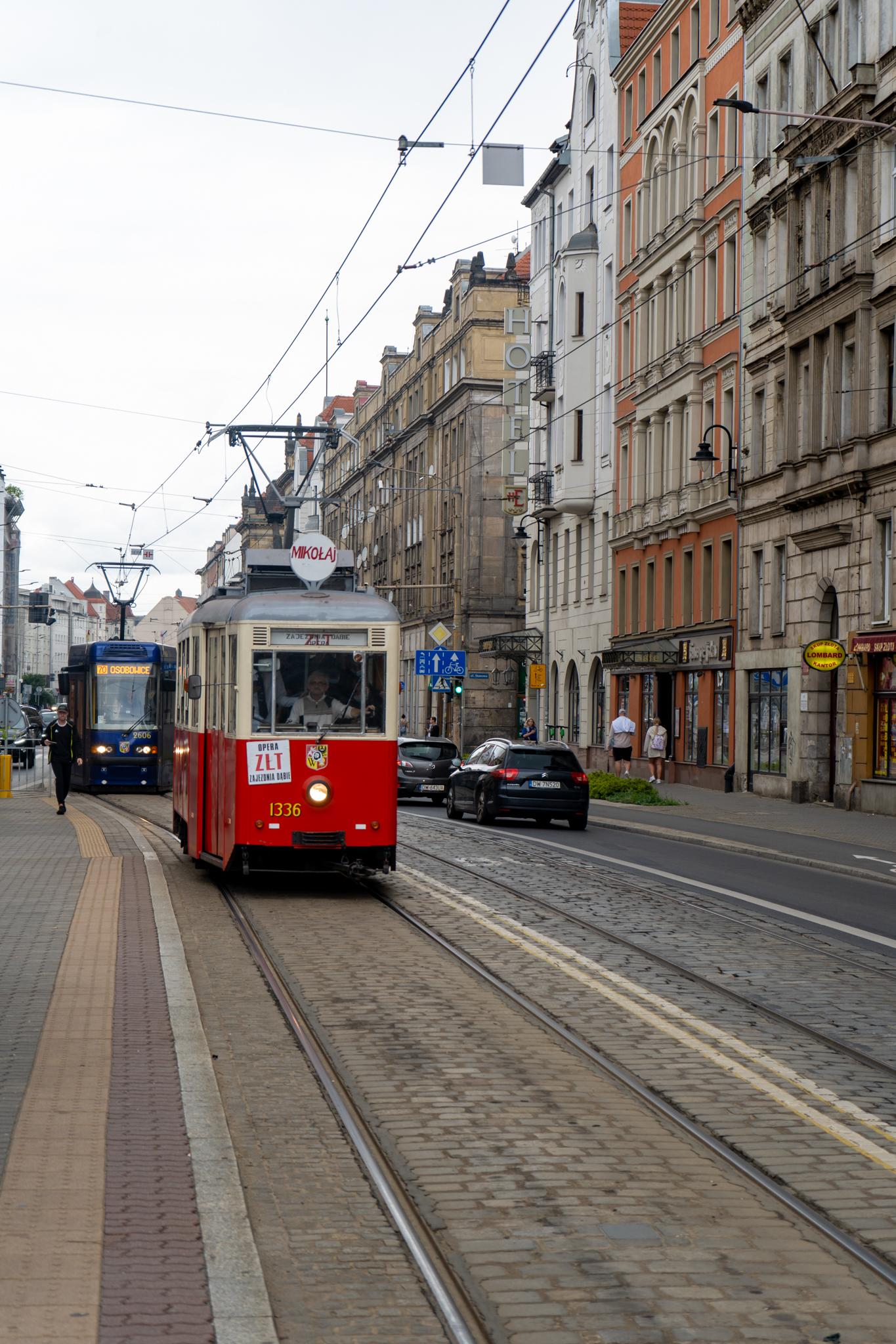 Alte Straßenbahn in Breslau