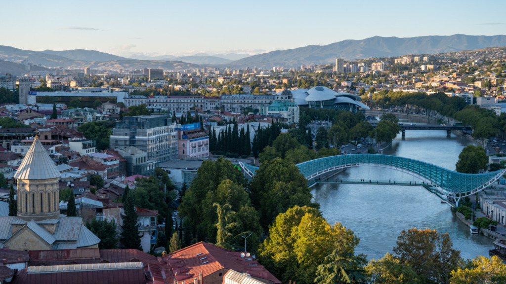 Ausblick über Tiflis
